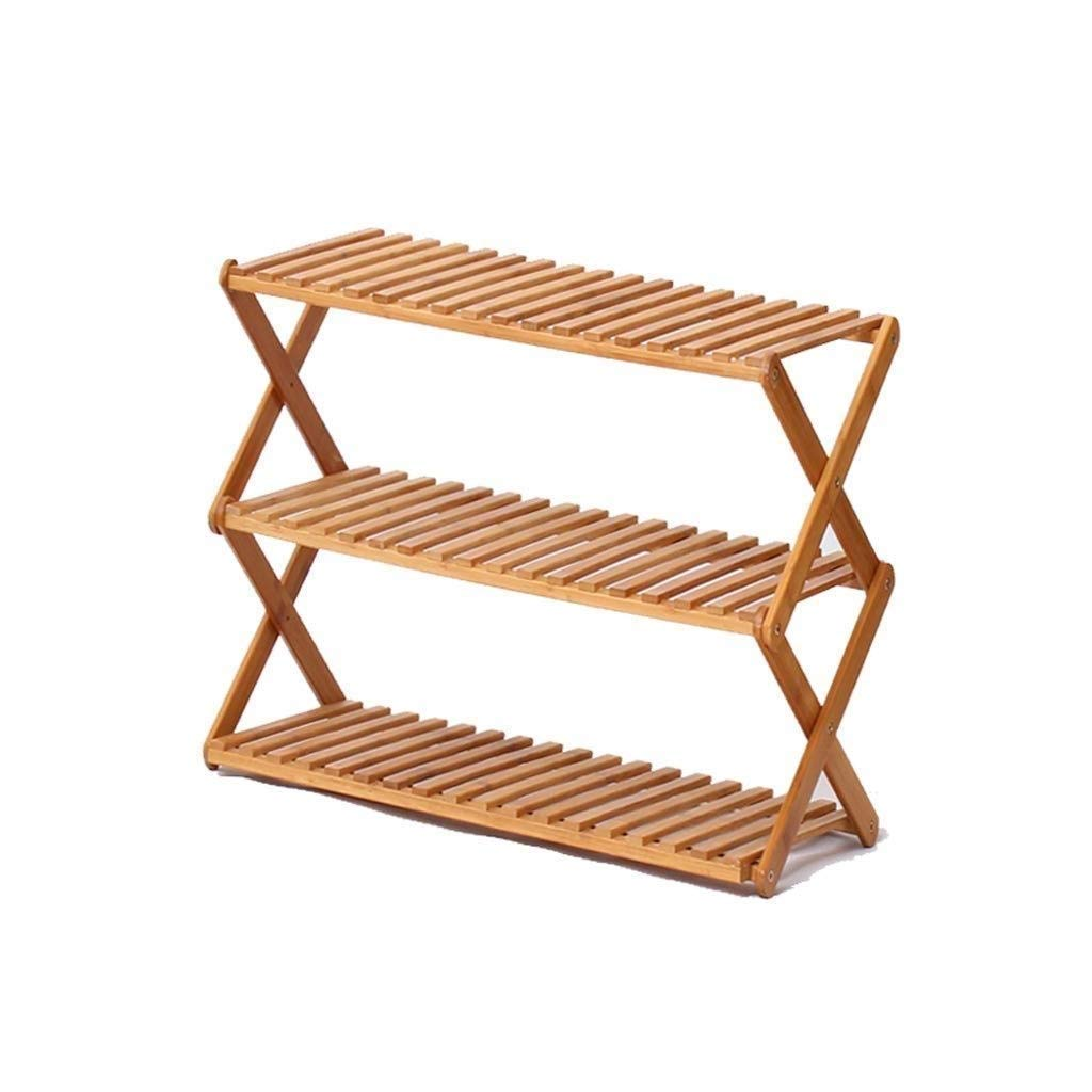 SCDXJ Shoe Rack - American Solid Wood Multi-Layer Shoe Rack European Simple Shoe Rack Rack Storage Dustproof Large Capacity Assembly (Size : Three Floors) by SCDXJ
