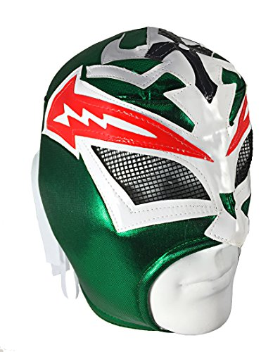 [CRAZY BOY Adult Lucha Libre Wrestling Mask (pro-fit) Costume Wear - Green] (Custom Wrestling Costumes)