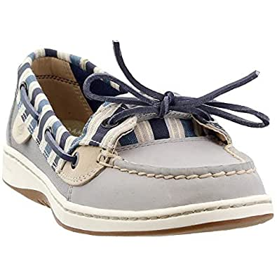 Sperry Top-Sider Angelfish Stripe Boat Shoe Women's Grey Size: 6