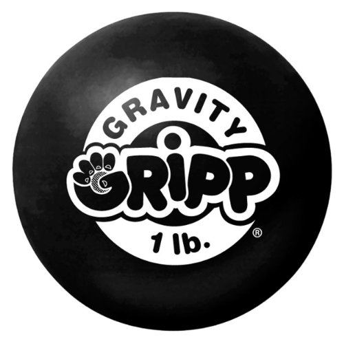 Iron Gloves Gravity Ball, Black, 1 lb - Gravity Gripp Ball