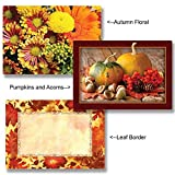 Autumn Themed Paper Placemats - 14in. x 9.75in. (50, Pumpkins & Acorns)