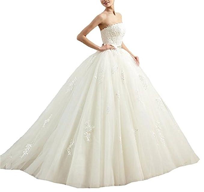 XUYUDITA Vestido de novia - Sin mangas - Mujer: Amazon.es: Ropa y accesorios
