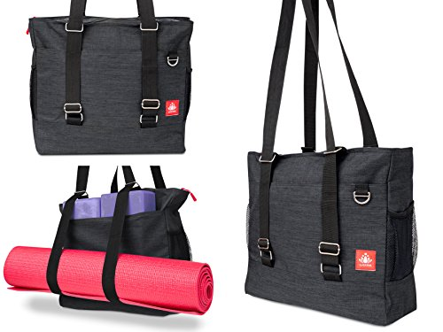 LUCKAYA Yoga Mat Bag/Tote bag/Backpack: Multi Purpose Carryall Bag For Workplace,Yoga,Journey and Fitness center! Carry Your Mat of any size,Laptop and Gear in One Bag! … – DiZiSports Store