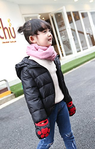 Black Down Warm Cute Jacket Ears Kids Winter Hooded Children Lemonkids;® Coat Animal qO0PPz