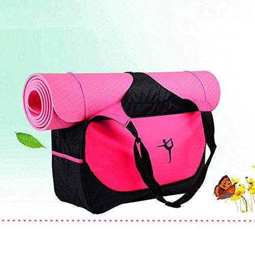 cloudwhisper Yoga Mat Bag Multifunktional Sport Kleidung Rucksäcke Aufbewahrung Zubehör rose