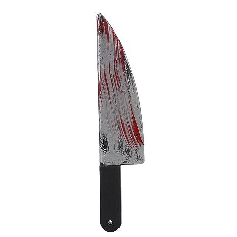 Kicode Acceso Fiesta de Halloween Prop Armas de plástico con Sangre Fantasía Cuchillo de la Cuchilla del Vestido del tra