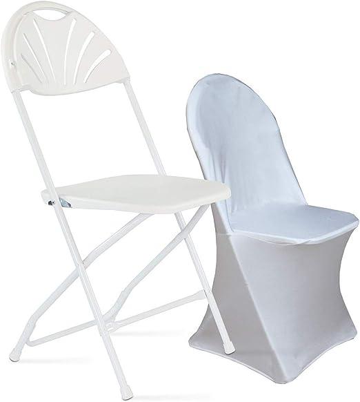 Chaise pliante et housse blanche: : Jardin