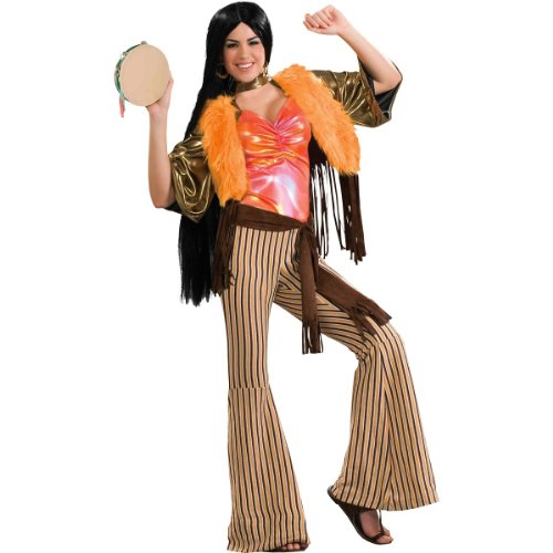60's Babe Adult Costume - Plus (Sonny Cher Costumes Halloween)