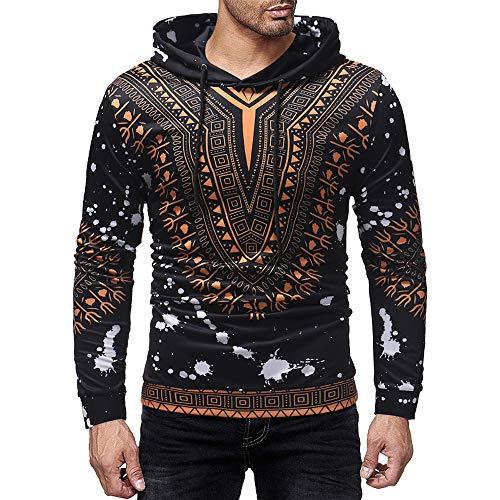 Men's Coat, FORUU Autumn Winter Printed Pullover Long Sleeve Hooded Sweatshirt Tops Blouse