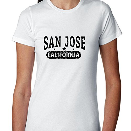 Trendy San Jose, California With Stars Women's Cotton T-Shirt -