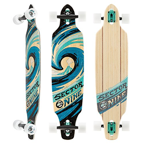 (Sector 9 Sentinel II Complete 38 Inch Bamboo Drop Through Longboard for Carving)