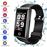 Fitness Tracker HR, Activity Tracker Smart Watch with Pedometer Blood Pressure Heart Rate SpO2 Monitor IP67 Waterproof Call SMS SNS Remind for Men Women Kids Android Iphone
