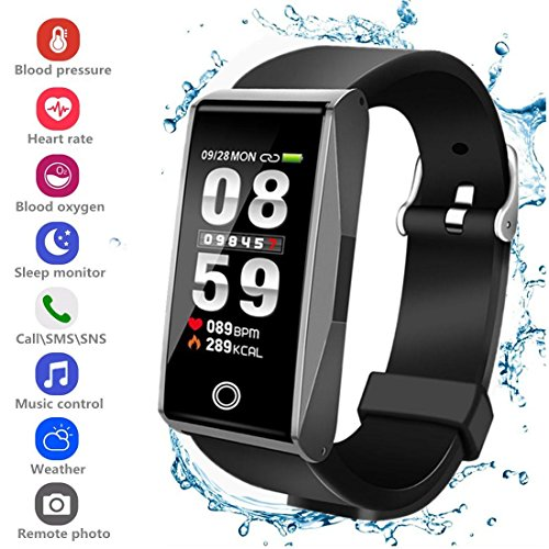 Fitness Tracker HR, Activity Tracker Smart Watch with Pedometer Blood Pressure Heart Rate Monitor IP67 Waterproof Call SMS SNS Remind for Men Women Kids Android iPhone – DiZiSports Store