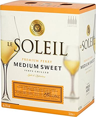 Broadland Wineries – Le Soleil Medium Sweet Perry 3 Litre Bag in Box
