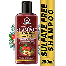 Vital Organics Sulphate Free Shampoo With Apple Cider Vinegar, Argan Oil, Biotin for Thick, Soft and Healthy Hair.