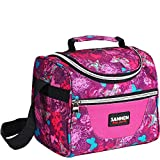 Lunch Bag for Kids Insulated Lunch Box for Girls Boys Children Student Cooler Lunch Tote Bag With Adjustable Shoulder Strap and Front Pocket Perfect for School Office Work Picnic Outdoor