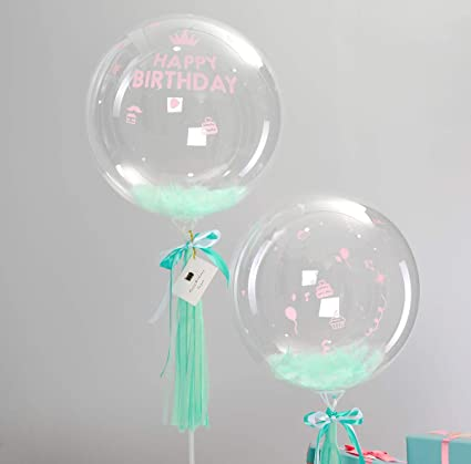 Silver Plastic Bubble Balloon Weight BirthdayPartyAnniversaryWedding
