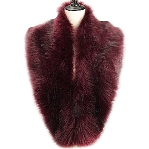Dikoaina Extra Large Women's Faux Fur Collar for Winter Coat (120cm, Deep purple) by Dikoaina