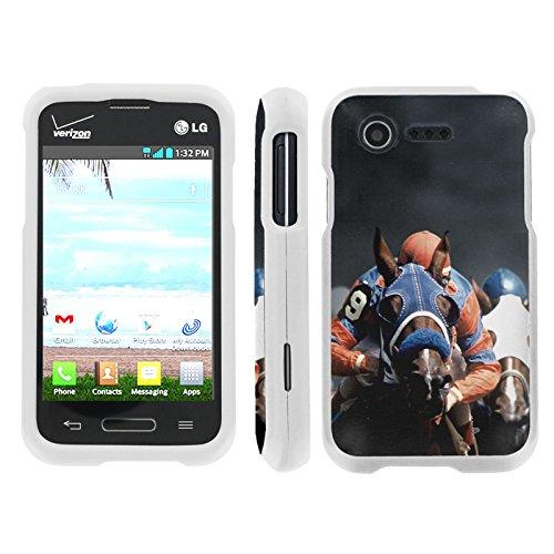 [ArmorXtreme] Case for LG Optimus Zone 2 / Optimus Fuel [VS415 / L34C] [Designer Image Shell Hard Cover Case] - [Horse Racing]
