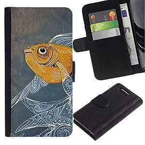 Stuss Case / Funda Carcasa PU de Cuero - Pintura de los pescados Dise?o floral Acuarela - Sony Xperia Z3 Compact