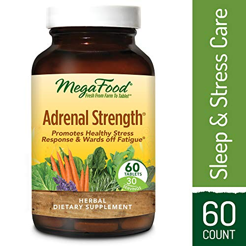 (MegaFood - Adrenal Strength, Support for Energy, Focus, Alertness, Fatigue and Stress Management with Ashwagandha and Reishi Mushrooms, Vegetarian, Gluten-Free, Non-GMO, 60 Tablets (FFP))