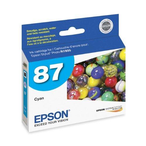 4 X Epson UltraChrome Hi-Gloss 87 Inkjet Cartridge Cyan T087220