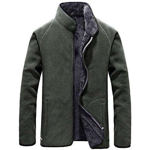Formal Coat A Escudo Casual Jacket XXL Lana Abrigo Cremallera Warm Chaqueta Clásico Abrigo De Mens Con Abrigo Mens Green Chaqueta Thicken pzwq1