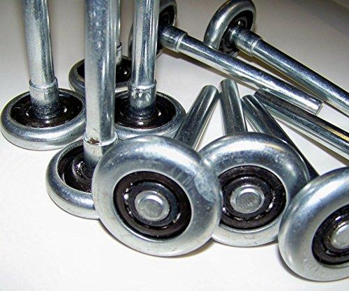 (RB) Garage Door Rollers/Wheels - STEEL 10 Ball Bearing Heavy Duty - 10 PACK by (RB) (Image #1)
