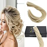 Sunny 14inch Tape in Remy Hair Extensions Human Hair #613 Bleach Blonde Hair Extensions Real Human Hair 10pcs 25G/Package