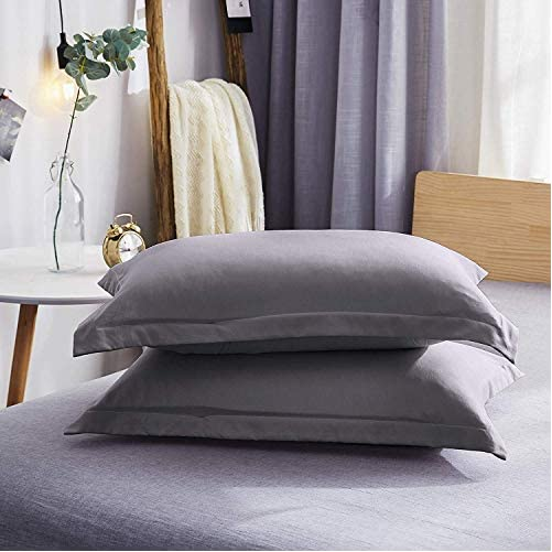 Dreaming Wapiti Duvet Cover Twin,100% Washed Microfiber 3pcs Bedding Set,Solid Color - Soft and Breathable with Zipper Closure & Corner Ties (Gray,Twin) 3