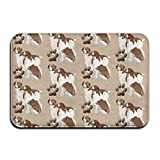 Brittany Spaniel Dogs Pets Indoor Bathroom Mats 2416 Inch Floor Mat