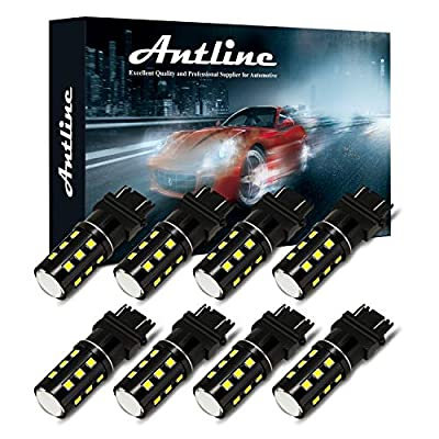 3157 3156 3057 3157A 4057 4157 LED Bulb White, Antline Super Bright 1200 Lumens 24-SMD LED Replacement Lamp for Car Backup Reverse Brake Tail Turn Signal Daytime Running Parking Lights (Pack of 8): Automotive