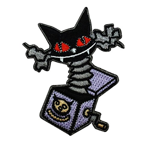Disney Nightmare Before Christmas Cat in The Box Patch Halloween IronOn Applique]()
