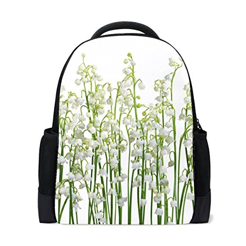 Lilys Of The Valley Flowers Primroses Some Spring Bookbag School Backpack Luggage Travel Sport (Valley Sport Pack)