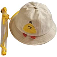 Kids Bucket Sun Hat UV Protection Summer Safety Anti-Spitting Hat with Chin Strap & Clear Face Shield