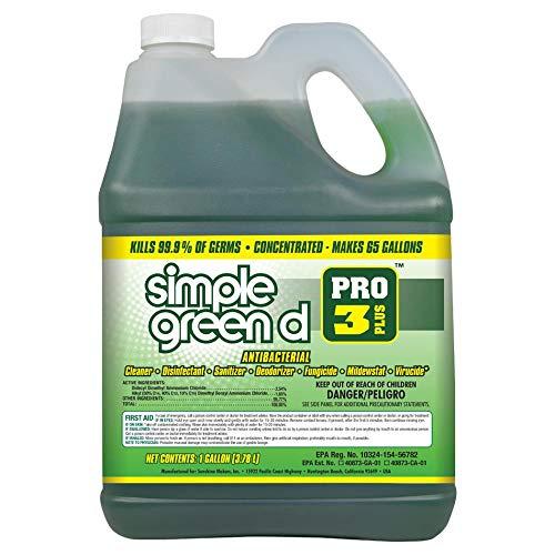 Simple Green 401128 d Pro 3 Plus - Germicide, Virucide, Bactericide, Fungicide and Mildewstat, EPA Registered, 1 Gallon Bottle