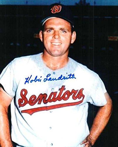 Washington Senators Baseball Photo - Signed Hobie Landrith 8x10 Photo Washington Senators - Autographed Baseball Photos