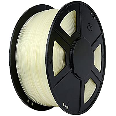 WYZWorks 3D Printer Filament 3mm PLA Thermoplastic Polylactic Acid 1kg 2.2lb [ Clear ]
