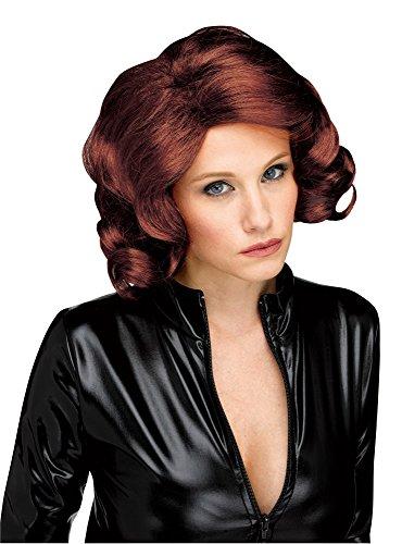 - Adult Super Babe Wig - Avengers Black Widow Costume Wig