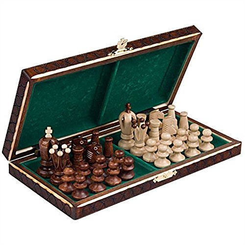 Pasuk2788 New Wooden Chess Set Wood Board Hand Carved Crafted (Carved Apron)