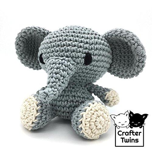 David el Elefante - Amigurumi - Muñeco de peluche - Tejido a ganchillo - Hecho a