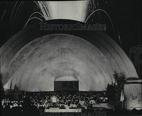 Historic Images - 1950 Vintage Press Photo Fireworks display at Blatz Temple of Music in Washington Park (Best Music For Fireworks Display)