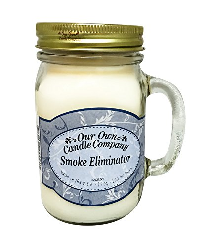 Our Own Candle Company Smoke Eliminator Scented 13 Ounce Mason Jar Candle ()