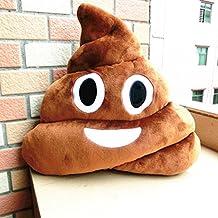 "Mynse 13"" Soft Big Eye Poop Emoji Throw Pillows"