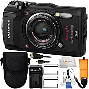 Olympus Tough TG-5 Digital Camera (Black) Includes x2 Extended Life Li-92B Replacement Batteries + AC/DC Rapid Home & Travel Charger + Point & Shoot Case + Floating Wrist Strap & More!