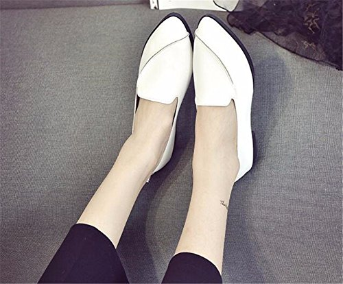 YUCH Flat Lazy White Casual Shoes Single Shoes Bottom Comfortable Women's Z6qr7Z