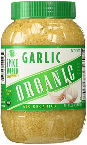 Cloves Of Garlic - Spice World, ORGANIC GARLIC - LARGE Container - 32 OZ