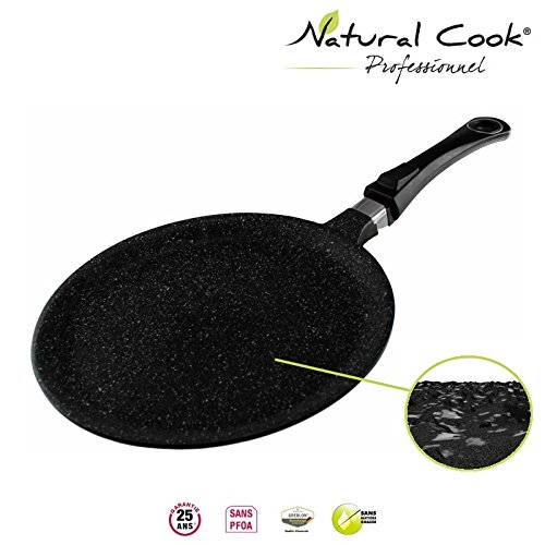 Natural Cook professionnel Crepe Pan In Nonstick Stonelike Granitelike & Ceramic Coating Cookware With Detachable Handles - Suitable For All Cookers, Even Induction Cookers 11