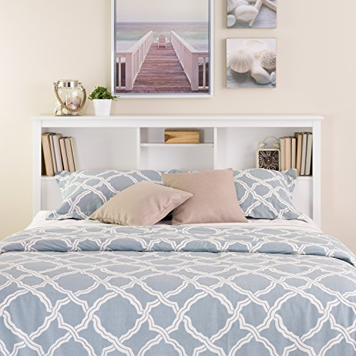 Headboards Double Beds (White Full /  Queen Bookcase)