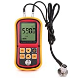 LotFancy Digital Ultrasonic Thickness Gauge Tester Meter, Range 1.2-220mm